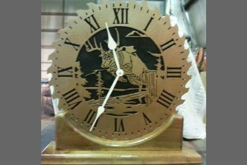 Jones County Ironworks: Custom Whitetail Deer Clock